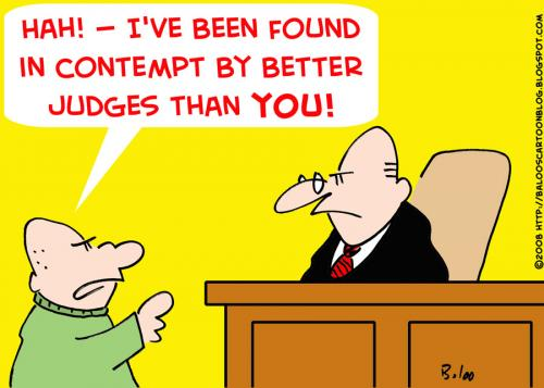 Image result for Cartoons of contempt of court