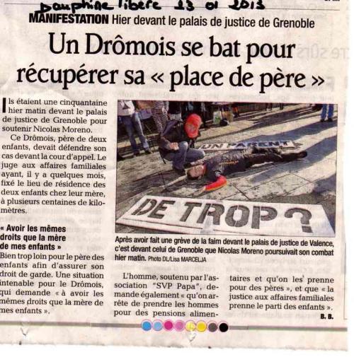 Dauphiné Libéré, 01/21/2013